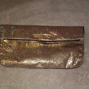 Victoria's secret gold clutch
